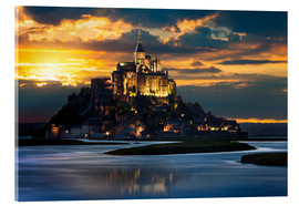 Acrylic print  Mount Saint-Michel at sunset