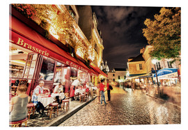 Acrylic print  Montmartre streets at night