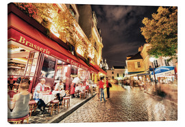 Canvas print  Montmartre streets at night