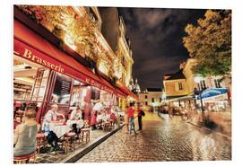 Forex  Montmartre streets at night