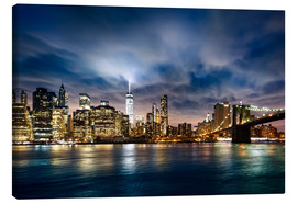 Canvas print  beautiful sunrise over Manhattan