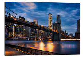 Aluminium print  New York City - beautiful sunrise over manhattan