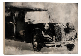Wood print  Classic Car - black - LoRo-Art