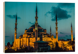 Wood print  Blue Mosque in Istanbul