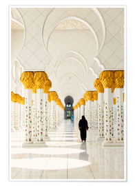 Poster Sheikh Zayed Mosque in Abu Dhabi