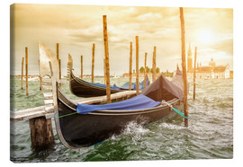 Canvas print  Gondolas in the wind