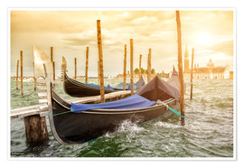 Premium poster Gondolas in the wind