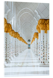 Acrylic print  Detail of Sheikh Zayed Mosque