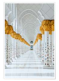 Premium poster Detail of Sheikh Zayed Mosque