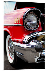 Acrylic print  red vintage car