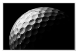 Premium poster  Golf ball in the macro