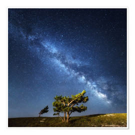 Poster  Milky Way - night sky with stars in Crimea