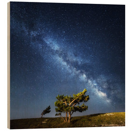 Wood print  Milky Way in Crimea