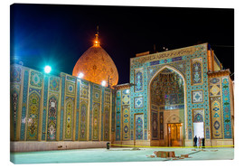 Canvas  Shah Cheragh, a funerary monument and mosque in Shiraz, Iran