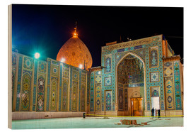 Wood  Shah Cheragh, a funerary monument and mosque in Shiraz, Iran