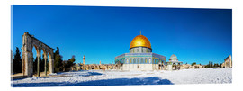 Acrylic print  Dome of the Rock mosque in Jerusalem, Israel
