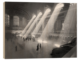 Wood print  Grand Central Railroad Station