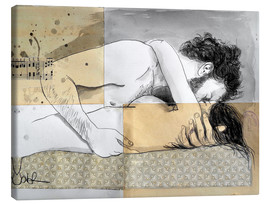 Canvas  lovers on a patterned mattress - Loui Jover