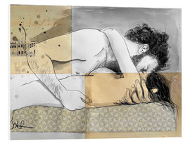 Foam board print  lovers on a patterned mattress - Loui Jover