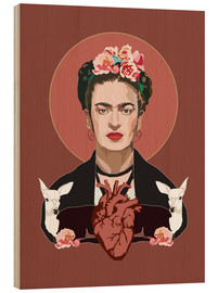 Wood  Frida Kahlo (Dark) - Anna McKay