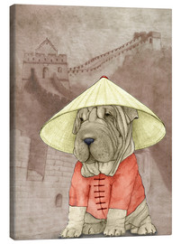Canvas print  Shar pei With The Great Wall - Barruf