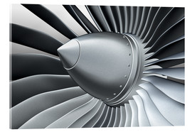 Acrylic glass  Detail of a propeller