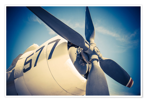 Premium poster Propeller of a military plane