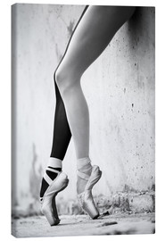 Canvas print  Ballet in black and white