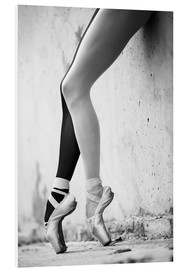 Foam board print  Ballet in black and white