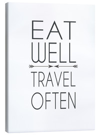 Canvas  Eat well, travel often! - Dani Wijeyesinghe