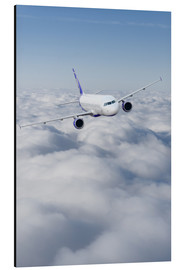 Aluminium print  Airliner in flight