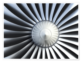 Premium poster An aircraft engine
