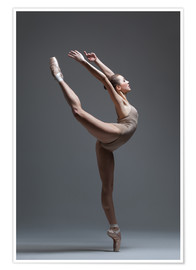 Poster  young beautiful dancer