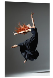Foam board print  Dancer with red hair