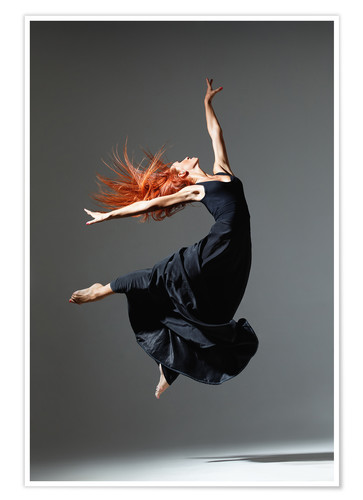 Premium poster Dancer with red hair