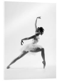 Acrylic print  Beautiful ballet dancer