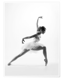 Poster  beautiful ballet dancer