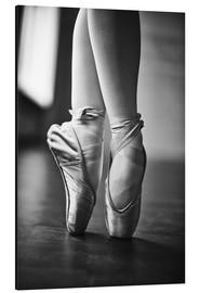 Aluminium print  Feet of a dancer