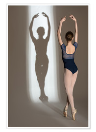 Premium poster Shadow of Ballerina