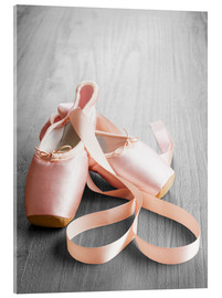 Acrylic print  Pink Ballet Shoes
