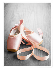 Poster  pink ballet shoes