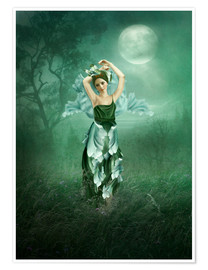 Premium poster  Dreaming under the moon