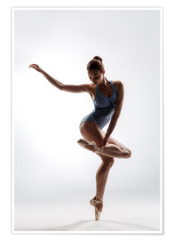 Premium poster beautiful ballet dancer