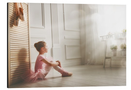 Aluminium print  Little ballerina - big dreams