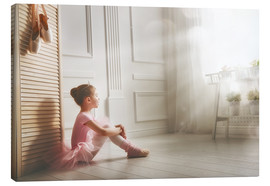 Canvas print  Little ballerina - big dreams