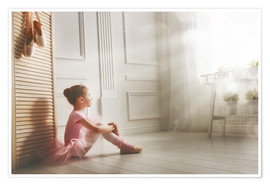 Premium poster  Little ballerina - big dreams