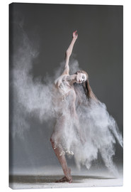 Canvas print  Flour dancer in pose