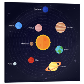 Acrylic glass  The Solar System - Kidz Collection