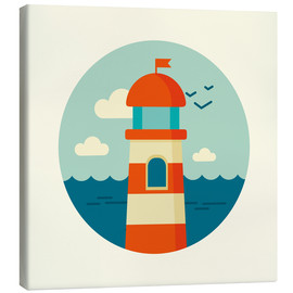 Canvas  Lighthouse in a circle - Kidz Collection