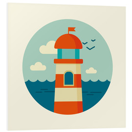 Foam board print  Lighthouse in a circle - Kidz Collection